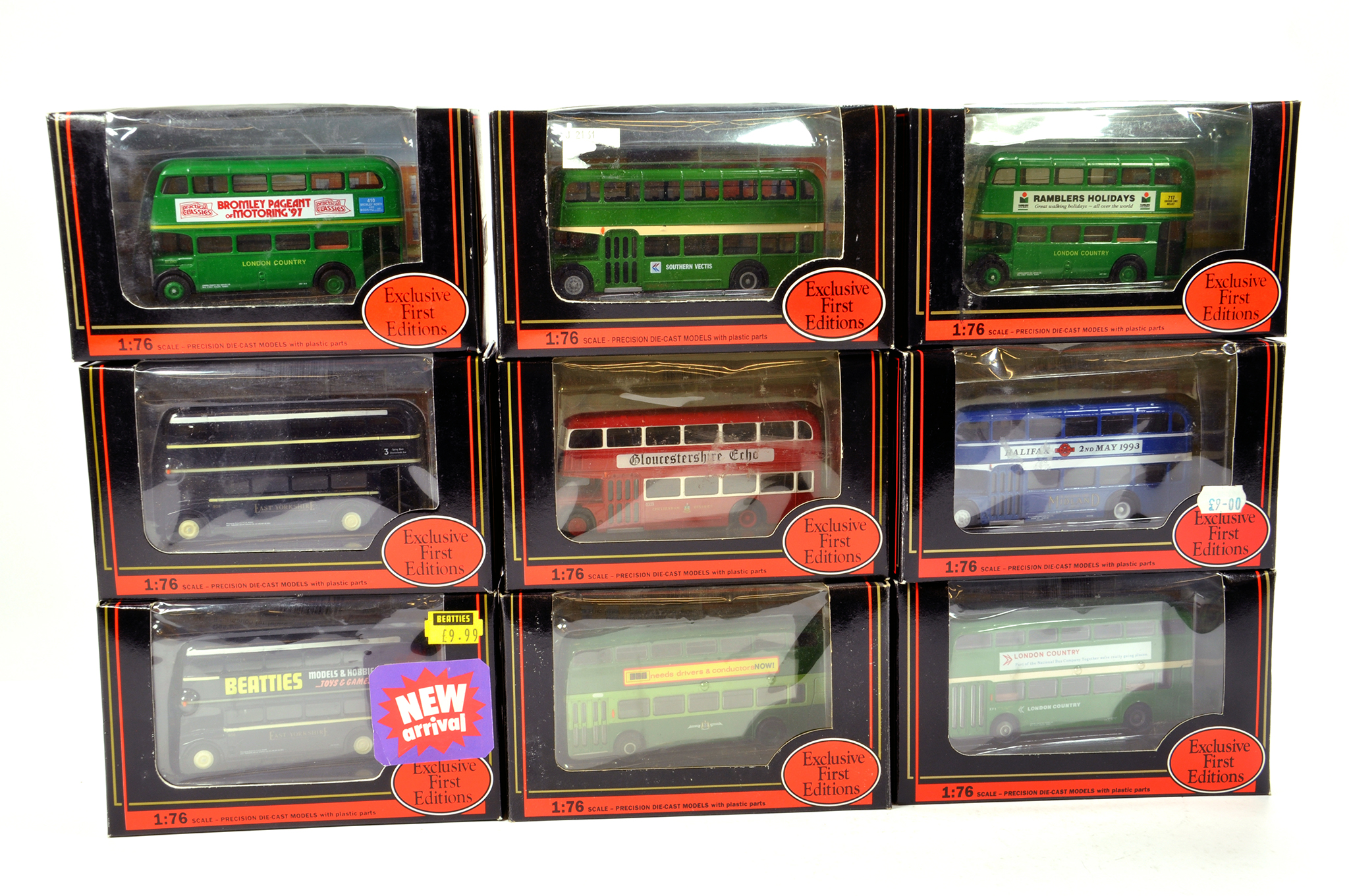 Lot 3 - EFE 1/76 diecast Bus group comprising various issues. Generally NM to M in Boxes. (9)