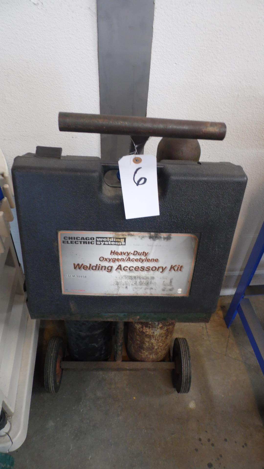 Lot 6 - OXYACETELENE WELDER w/ GAGES + TORCH GAGES