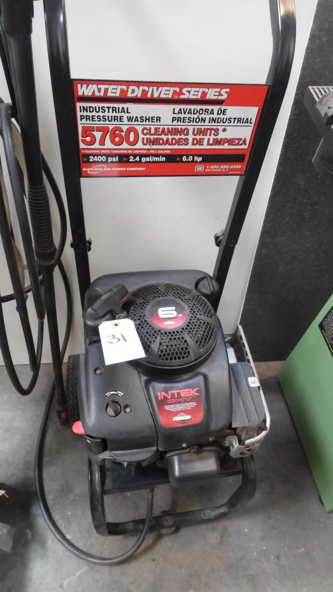 Lot 31 - INTEK PRESSURE WASHER 2400 PSI 6HP