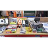 ASSORTED TOOLS - WRENCH KIT - GRINDERS - TARP