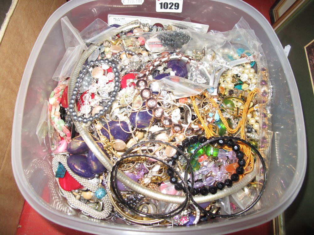 Lot 1029 - A Mixed Lot of Assorted Costume Jewellery:- One Box