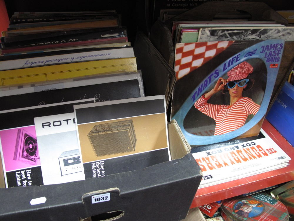 """Lot 1032 - Classical, Easy Listening and Jazz LP's, 10"""" and 78 RPMs, Wharfedale and Rotel manuals:- One Box and"""