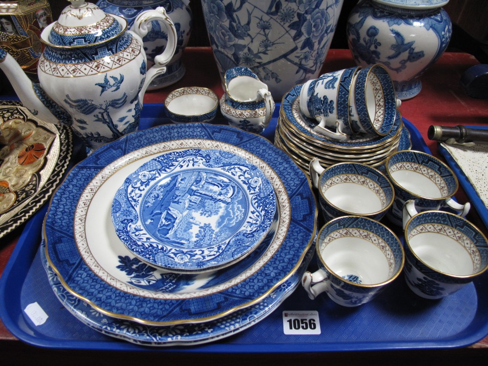 Lot 1056 - Booths 'Real Old Willow' Coffee Service, of twenty-one pieces, Spode 'Italian', etc:- One Tray