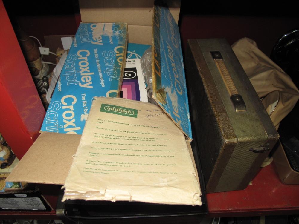 Lot 1025 - Grundig Reel to Reel, plus tapes, Widor radio circa 1950's, Singer sewing machine.