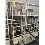 (9) Racks / présentoirs 4 niveaux avec vitre - QUANTITÉ x prix misé