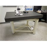 "29 3/4"" x 47"" x 4"" Granite Surface Plate w/ Stand"