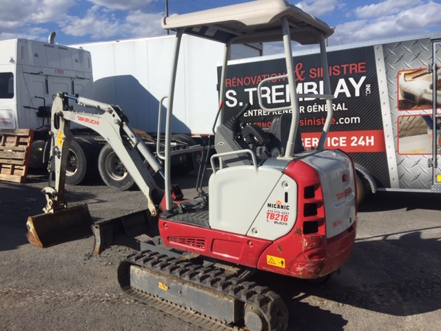 Lot 6 - TAKEUCHI Excavator, mod: TB16R 2016 (see photos for details)