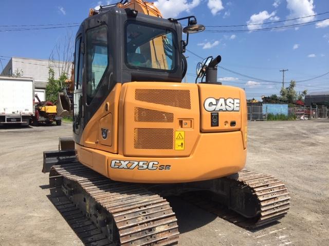 Lot 8 - CASE Excavator, mod: CX75C, 2017, c/w (2) Attachements (see photos for details)