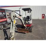 TAKEUCHI Excavator, mod: TB16R 2016 (see photos for details)
