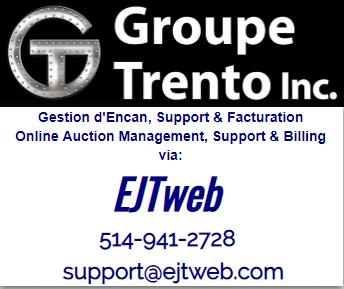 Lot 0A - online SUPPORT / ASSISTANCE en ligne : 514-941-2728 - support@ejtweb.com