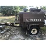Ingersoll Rand Towable Air Compressor #D175, 175CFM, Detroit Diesel 3-53, Pintle Hitch, Single Axle,