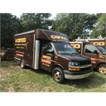 2013 Chevrolet Utilimaster 13' Body, Gas, 6 Wheel, Cube Van, Full Height, Translucent Roof, Cab Pass