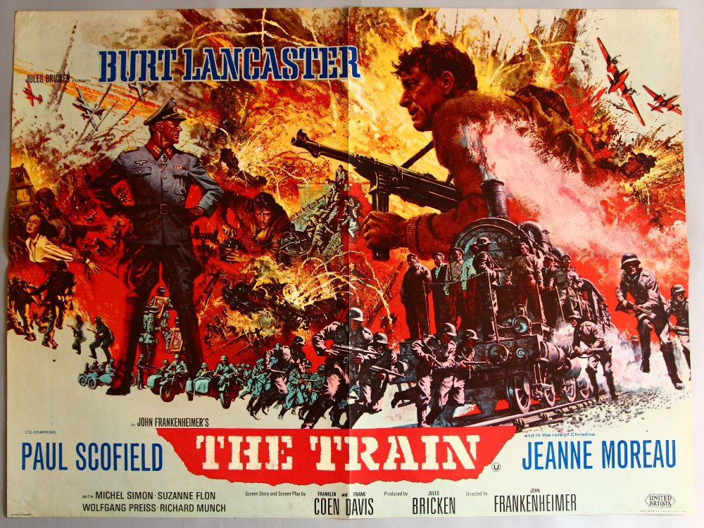 the train 1964 uk quad film poster 30 x 40 inch
