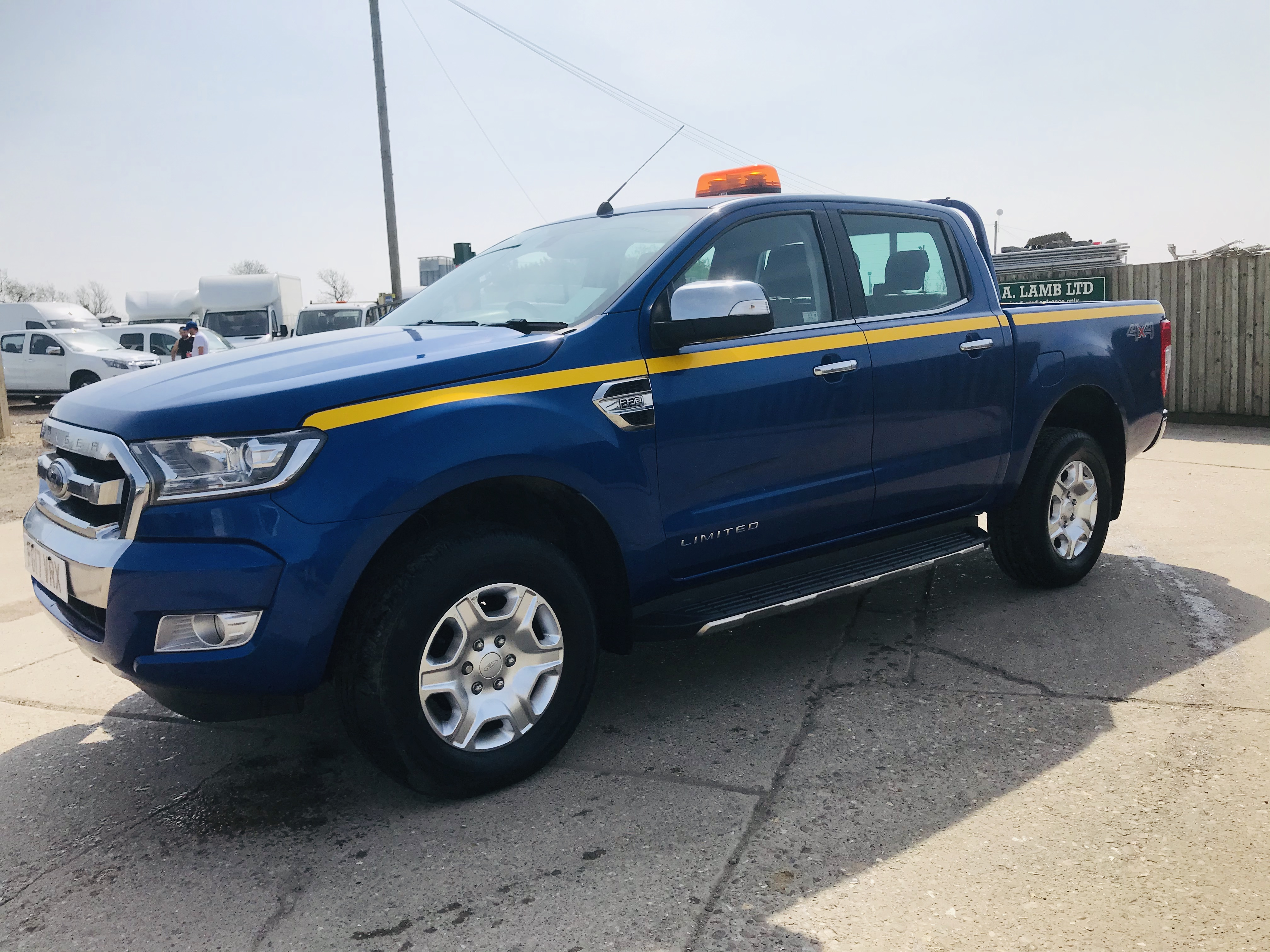 """ON SALE FORD RANGER 2.2TDCI """"LIMITED"""" D/C PICK UP (17 REG) 1 OWNER FSH - FULL LEATHER - CLIMATE & AC - Image 7 of 38"""