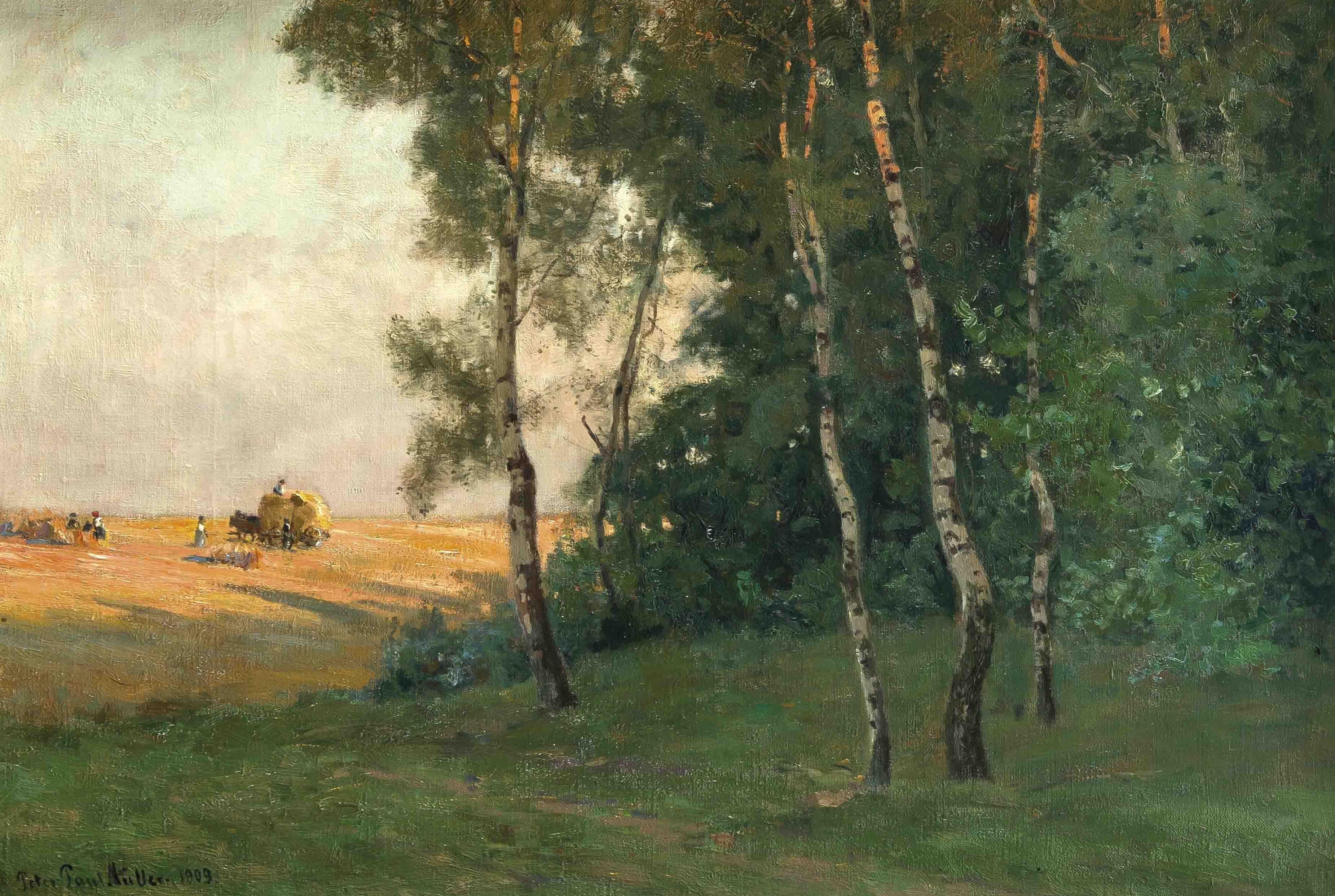 Auktionslos 1285 - Peter Paul Müller (1853-1930), in Berlin geb. Landschaftsmaler, war tätig in Weimar undMünchen,