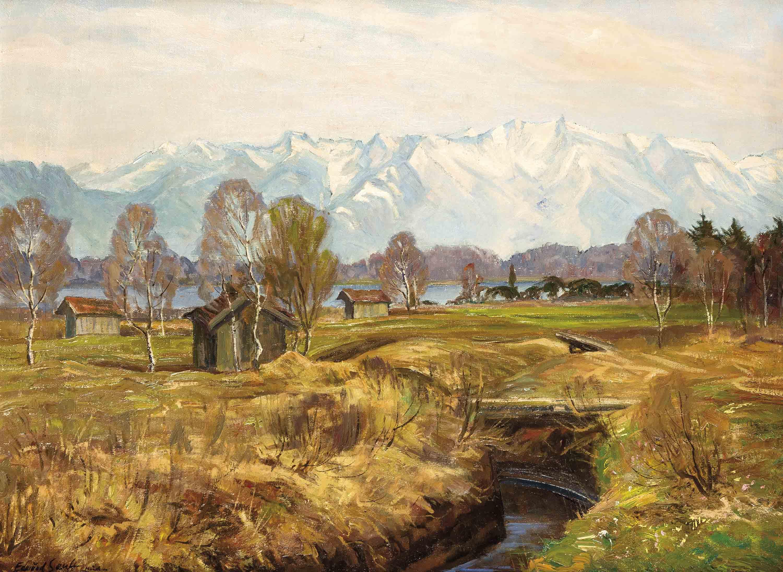 Edmund Senft (1888-?), Münchener Maler, Studierte Seit 1919 An Der Dortigen Akademie,'Vorfrühling