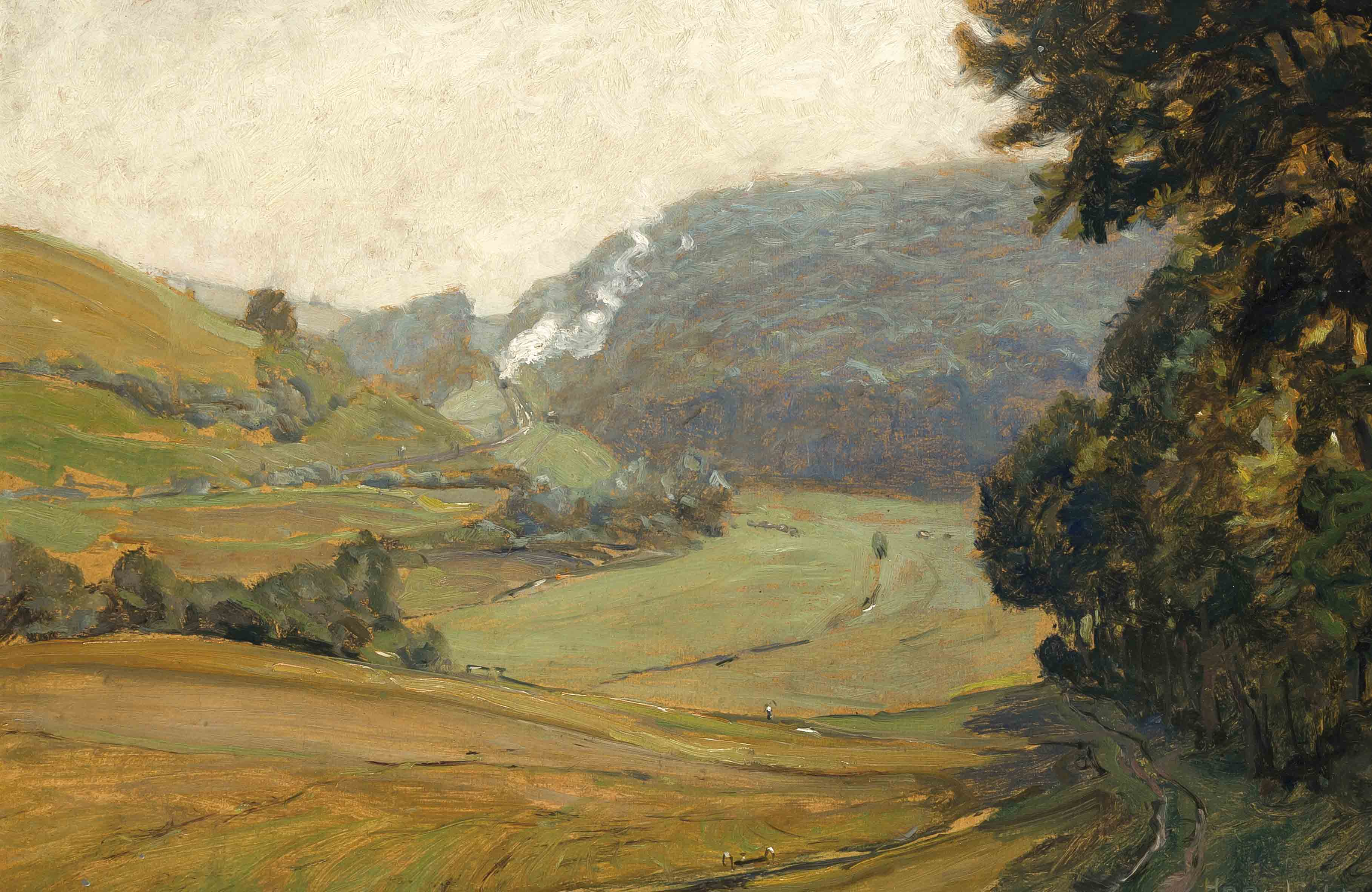 Landschaftsmalerei impressionismus  Hans Licht (1876-1935), Landschaftsmaler des dt. Impressionismus ...