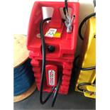 TEMPO MODEL GW29 PLASTIC 2-WHEEL GRAVITY FEED GAS CONTAINER, 29 GALLONS (LOCATION: FLEX CONTAINER)