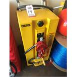 TODD GAS CADDY, PLASTIC 2-WHEEL, ROTARY HAND PUMP, 28 GALLONS (LOCATION: FLEX CONTAINER)