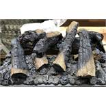 1 BOXED SET OF COSMETIC PLASTIC LOGS - FOR USE WITH AN ELECTRIC FIRE (SOLD AS SEEN)