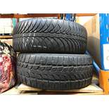 1 LOT TO CONTAIN 2 CAR TIRES (SOLD AS SEEN)