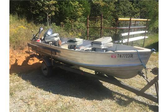Lot# 108 1961 14u0026#39; Starcraft Aluminum Boat W/Trailer Hull IDNCZ3064EOH61 Canopy Mercury 25 Hp Mot & Lot# 108 1961 14u0026#39; Starcraft Aluminum Boat W/Trailer Hull ...