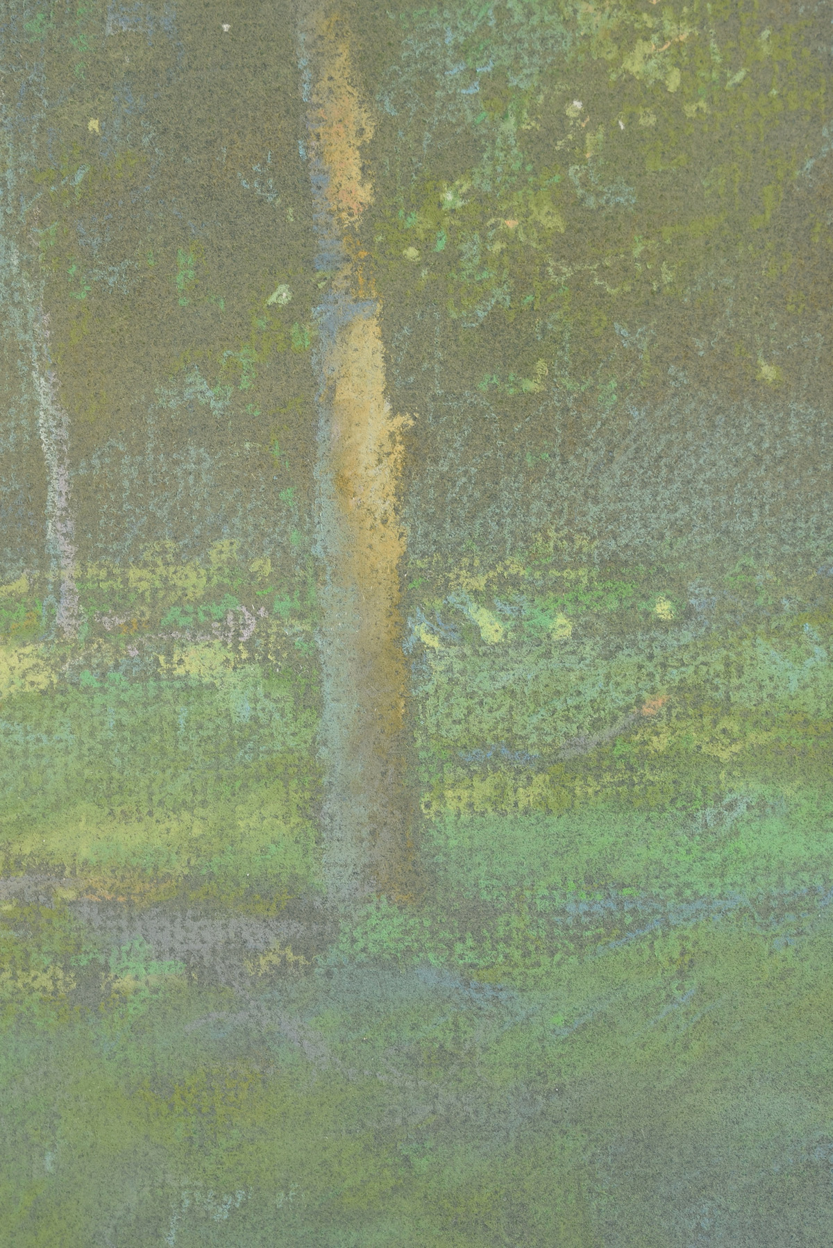 """Lot 23 - CHRIS BURKHOLDER (American/Texas b. 1952) A DRAWING, """"Afternoon Light,"""" pastel on paper, signed"""