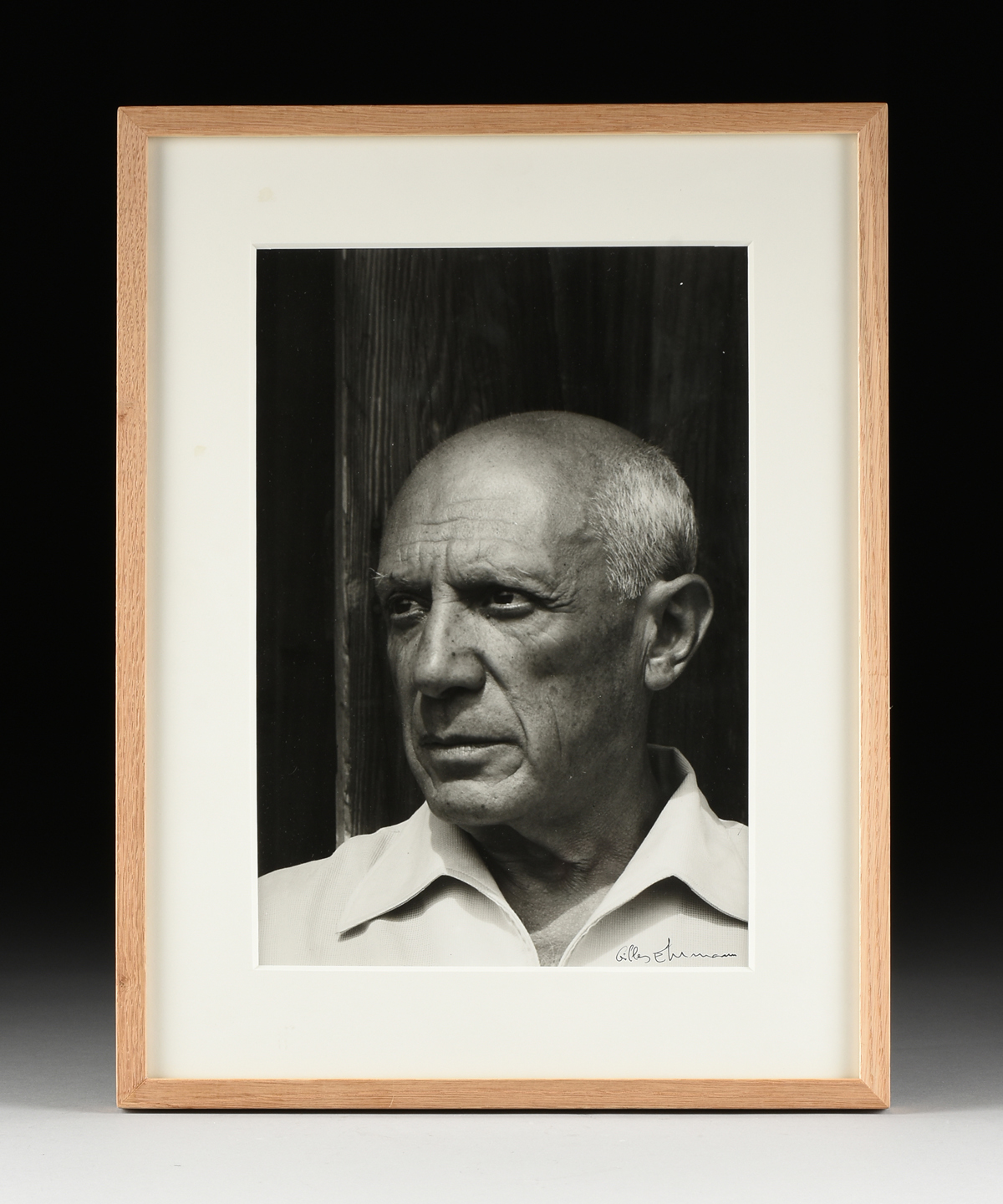 "GILLES EHRMANN (French 1928-2005) A PHOTOGRAPH, ""Pablo Picasso à Vence, 1956,"" ink on paper, - Image 2 of 9"