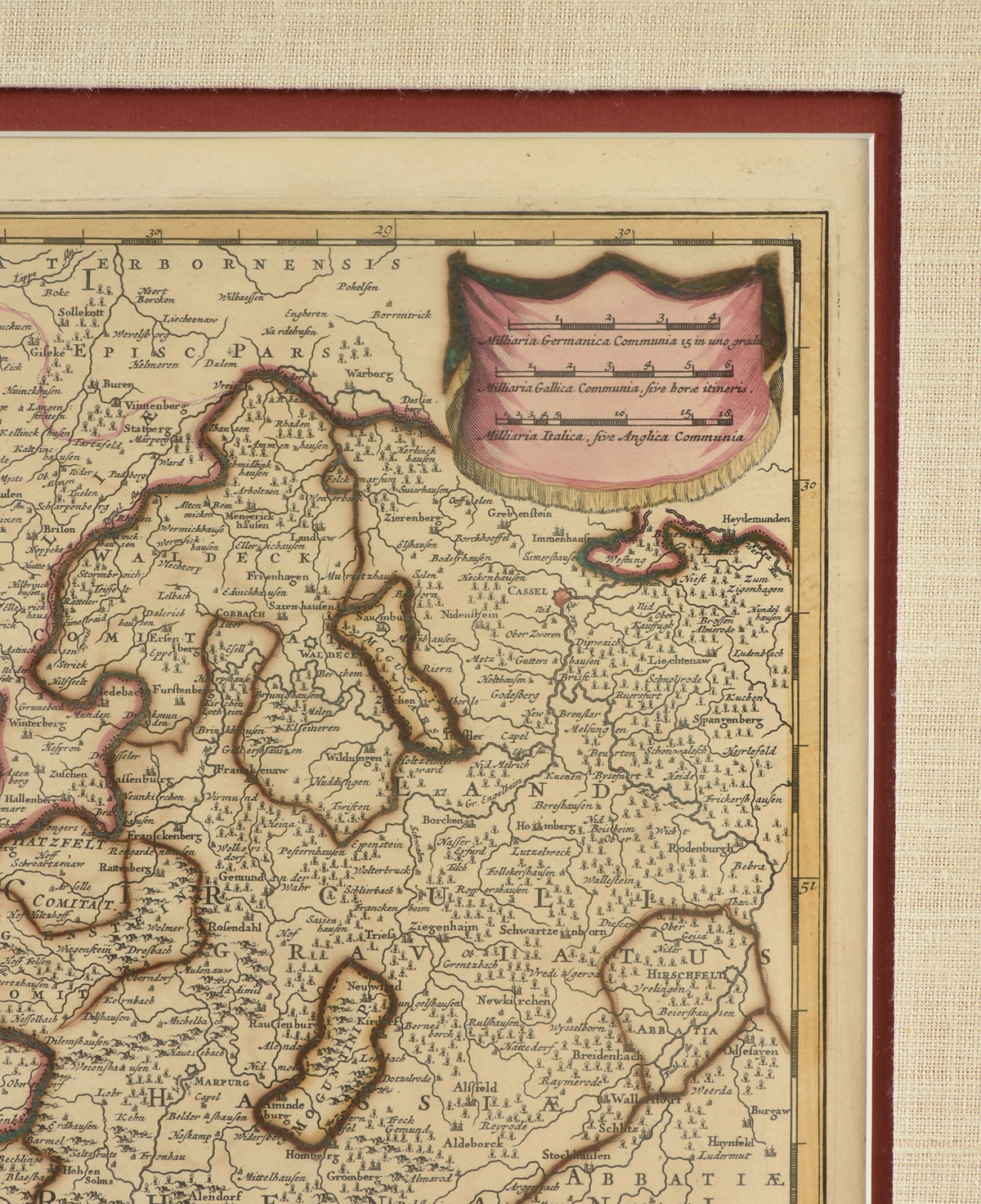 "Lot 3 - AN ANTIQUE MAP, ""Circulus Electorum Rheni Sive Rhenanus Inferior,"" AMSTERDAM, 17TH/18TH CENTURY,"
