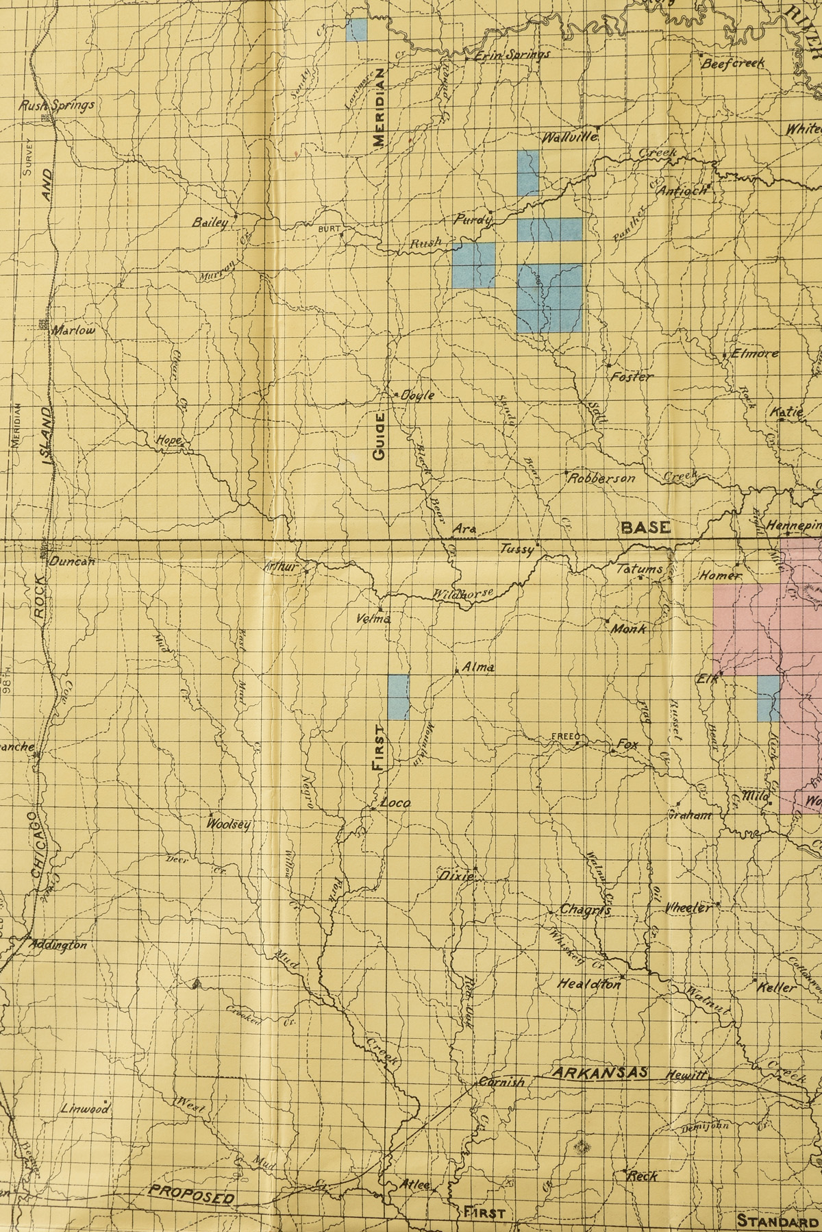 "Lot 15 - AN ANTIQUE MAP, ""Department of the Interior Commission to the Five Civilized Tribes, Map of the"