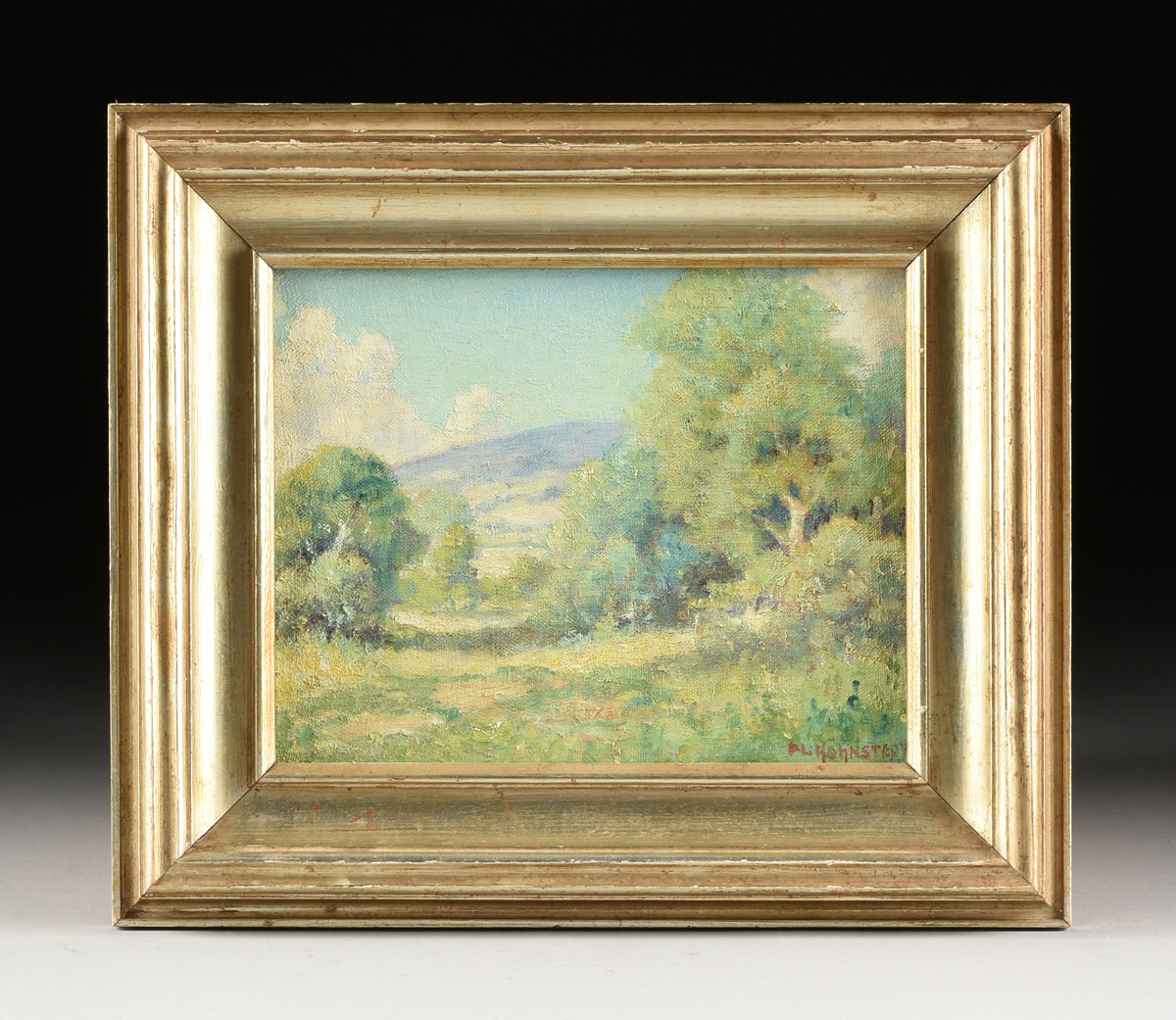 "Lot 60 - PETER HOHNSTEDT (American/Texas 1871-1975) A PAINTING, ""Hill Country Summer,"" oil on canvas,"