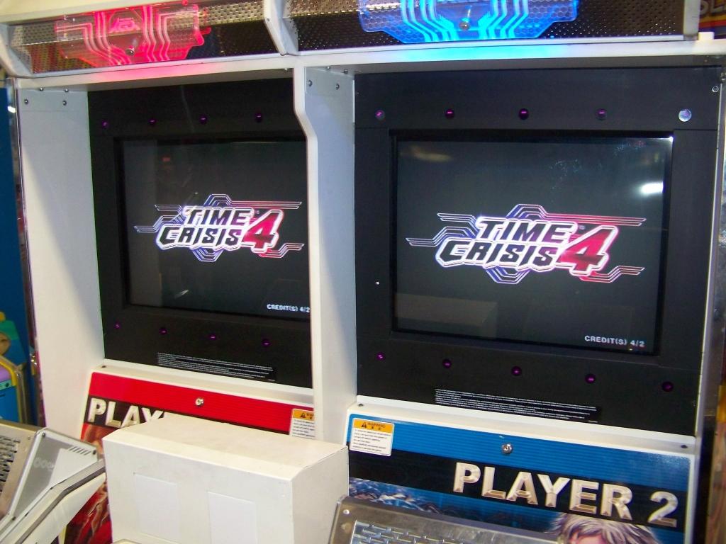 Lot 9 - TIME CRISIS 4 TWIN SHOOTER ARCADE GAME NAMCO
