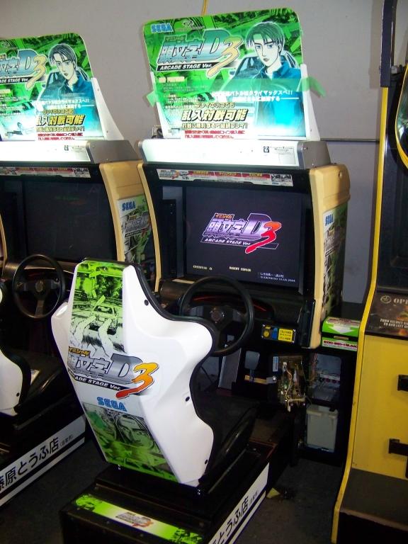 Lot 47 - INITIAL D3 SINGLE RACING ARCADE GAME SEGA