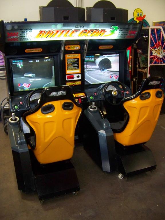 Lot 16 - BATTLE GEAR 3 TWIN DRIFT RACING ARCADE GAME
