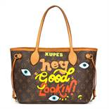 Louis Vuitton X Year Zero London Hand-Painted 'Hey Good Lookin' Brown Monogram Coated Canvas Never