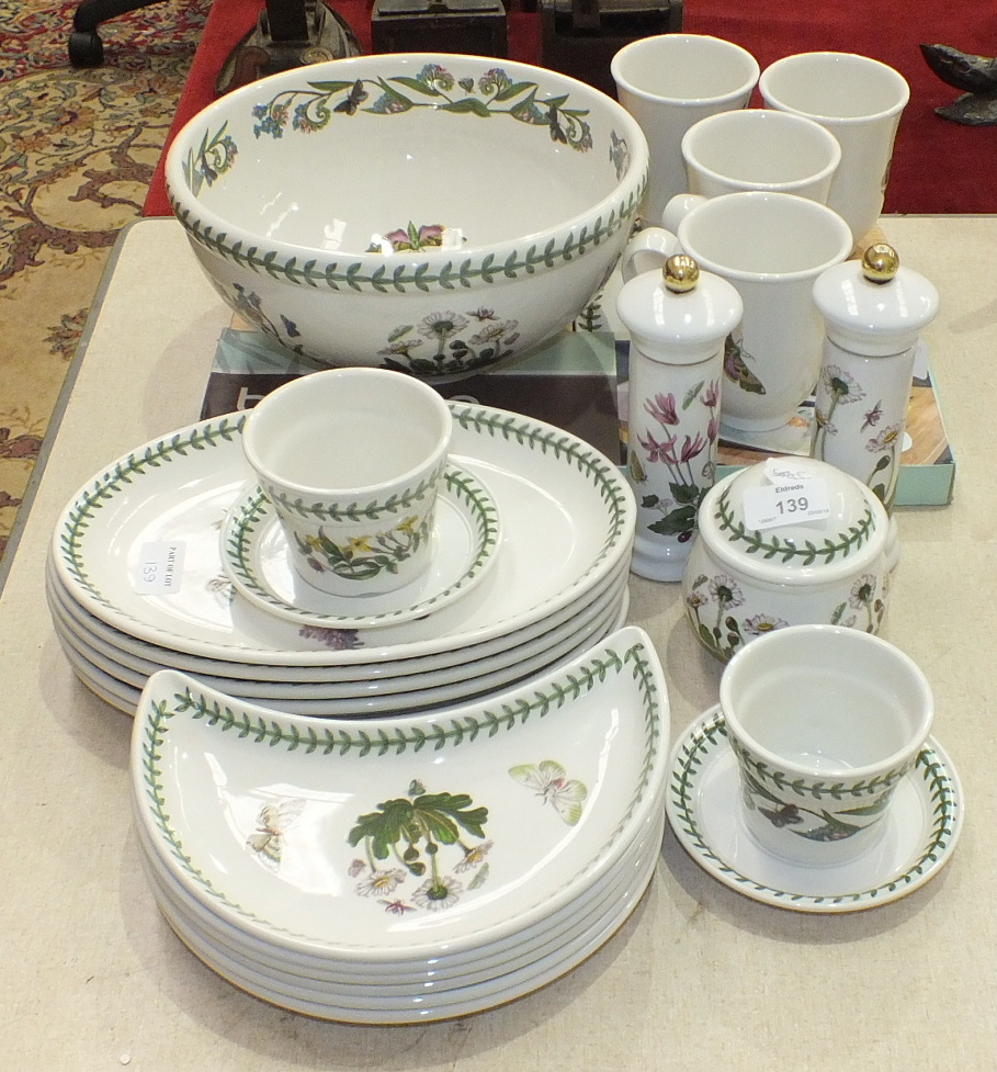 Lot 139 - Twenty-four pieces of Portmeirion 'Botanic Garden' table ware, including mixing bowl, chop and serve