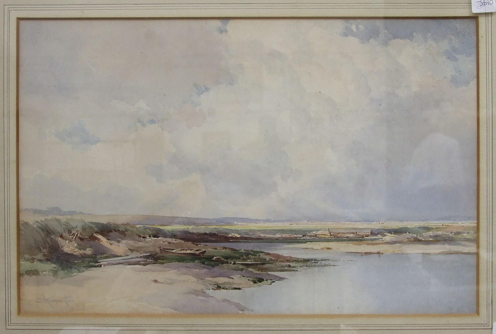 Charles Harrington (1865-1943) COASTAL SCENE Signed watercolour, 29 x 45.5cm.