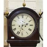 Thos Pringle, Dalkeith, an early-19th century Scottish long case clock, the ebony inlaid mahogany