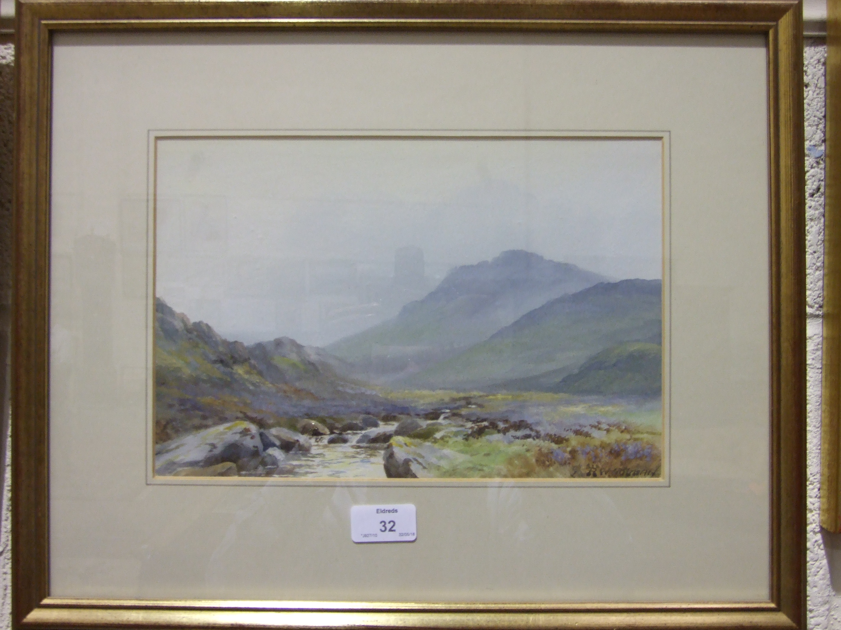 R W Holman TAVY-CLEAVE, DARTMOOR Signed watercolour, 20 x 30cm and another by A Jukes-Browne, - Image 3 of 3