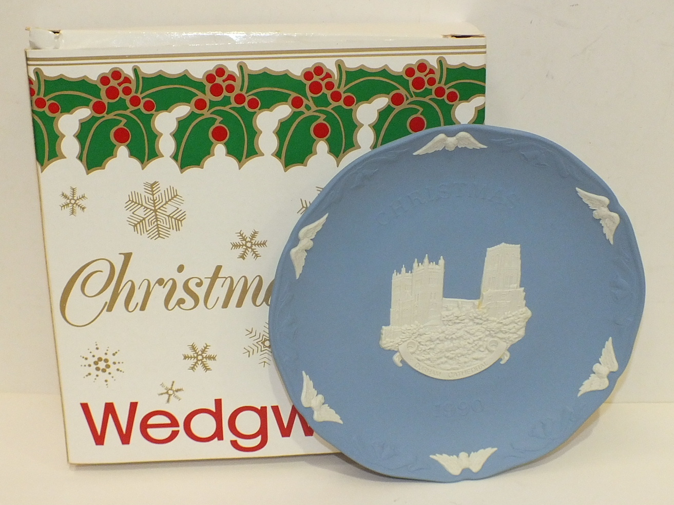 Lot 138 - A collection of forty Wedgwood Christmas plates, (seven unboxed) and other collectors' plates.