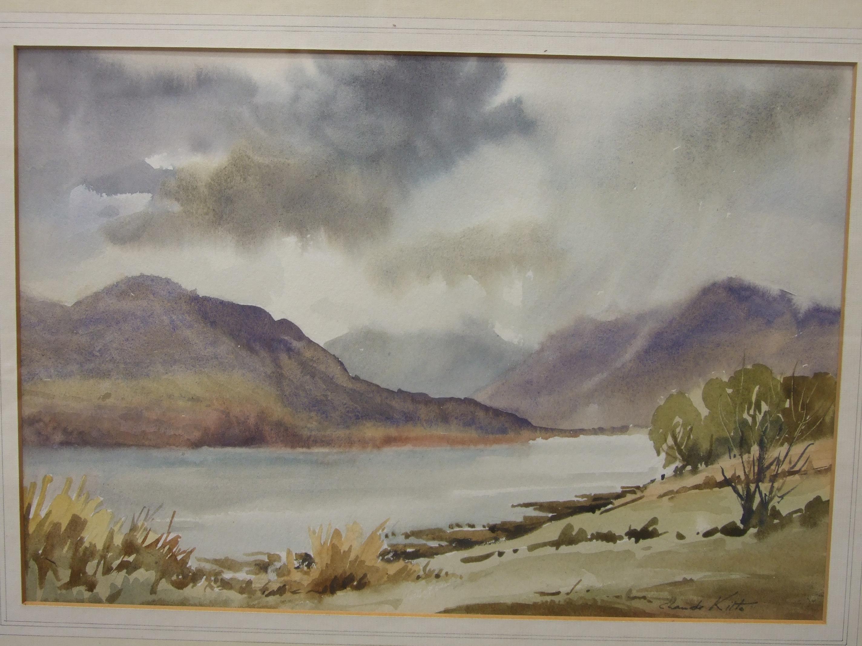 •Claude Kitto TREWURGY FARM, DULOE, NR LOOE Signed watercolour, titled label verso, 31.5 x 48cm