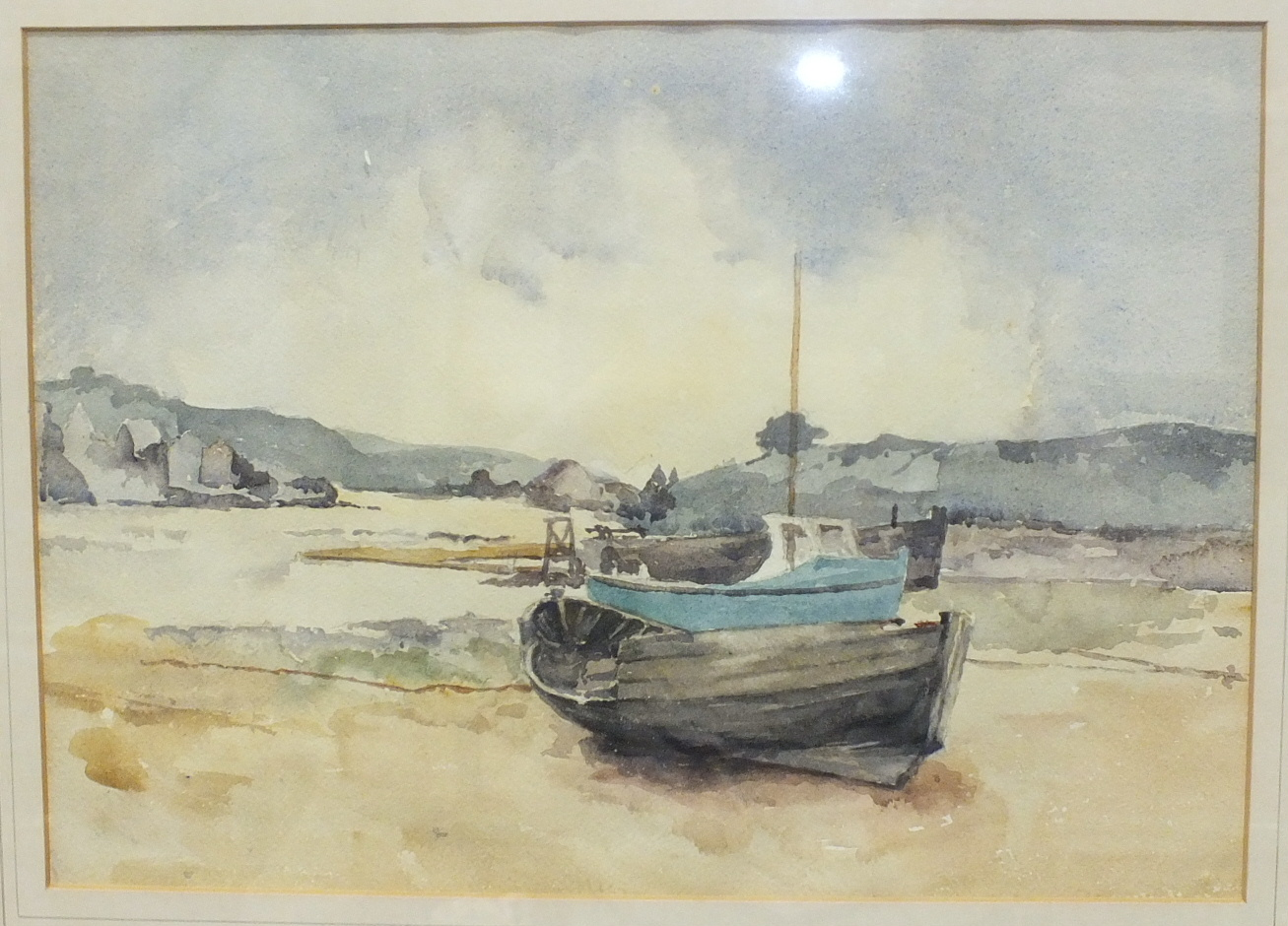 •Ernestine Symes-Saunders CABLE SHIP IN MILLBAY DOCKS Watercolour, signed, titled and dated 1960 - Image 3 of 3