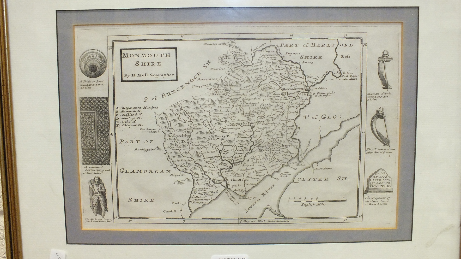 A Greenwood & Co. map of the County of Monmouth, hand-coloured, engraved Josiah Neele, published - Image 2 of 5