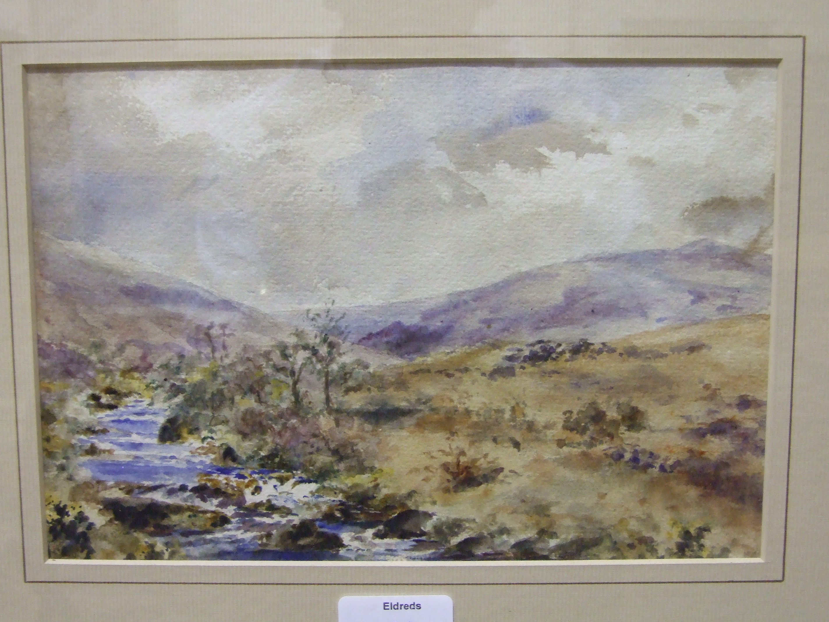 R W Holman TAVY-CLEAVE, DARTMOOR Signed watercolour, 20 x 30cm and another by A Jukes-Browne,
