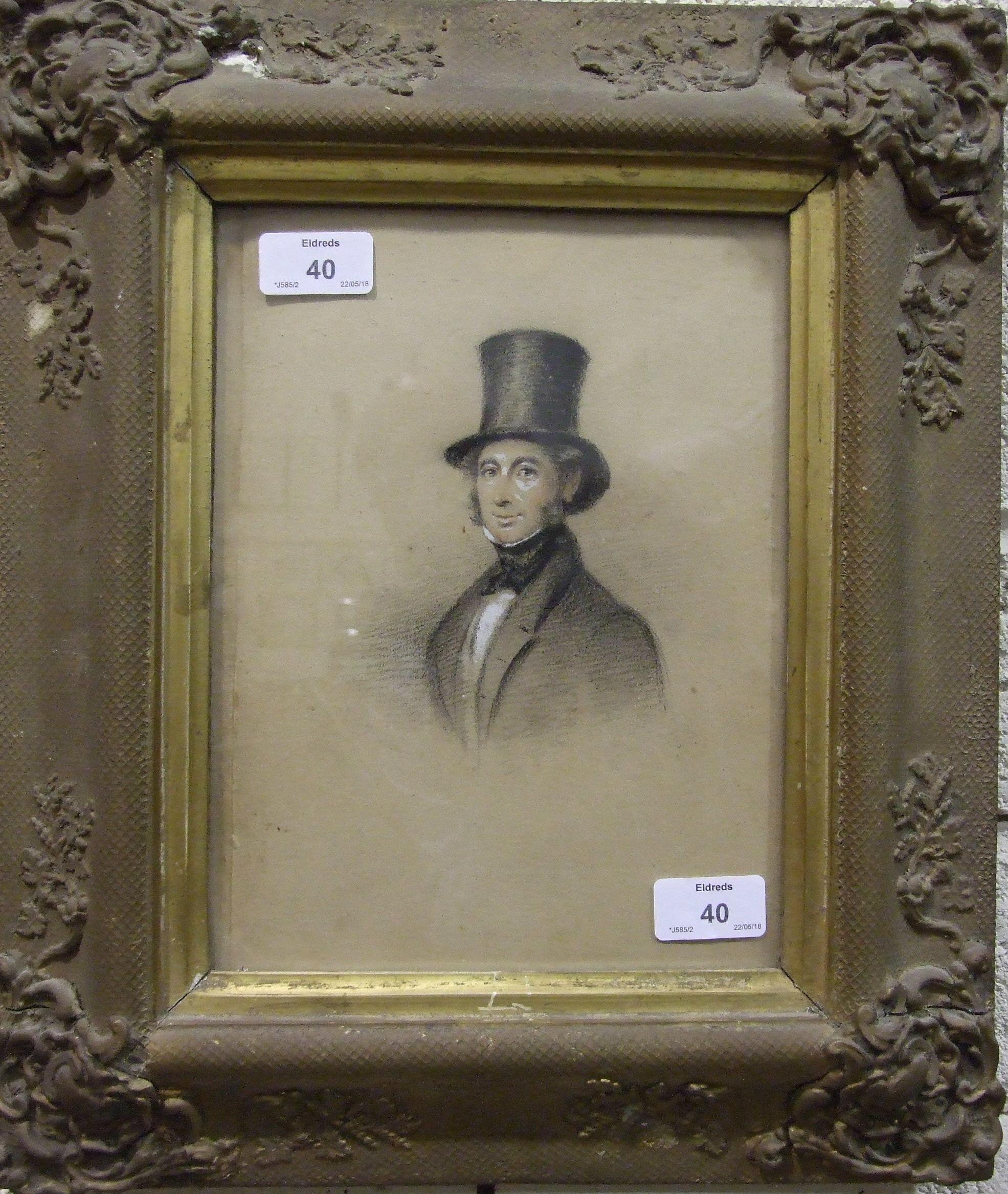 19th century Irish School HALF-LENGTH PORTRAIT OF NOBLE JOHNSON OF ROCKINGHAM, COUNTY CORK, - Image 2 of 2