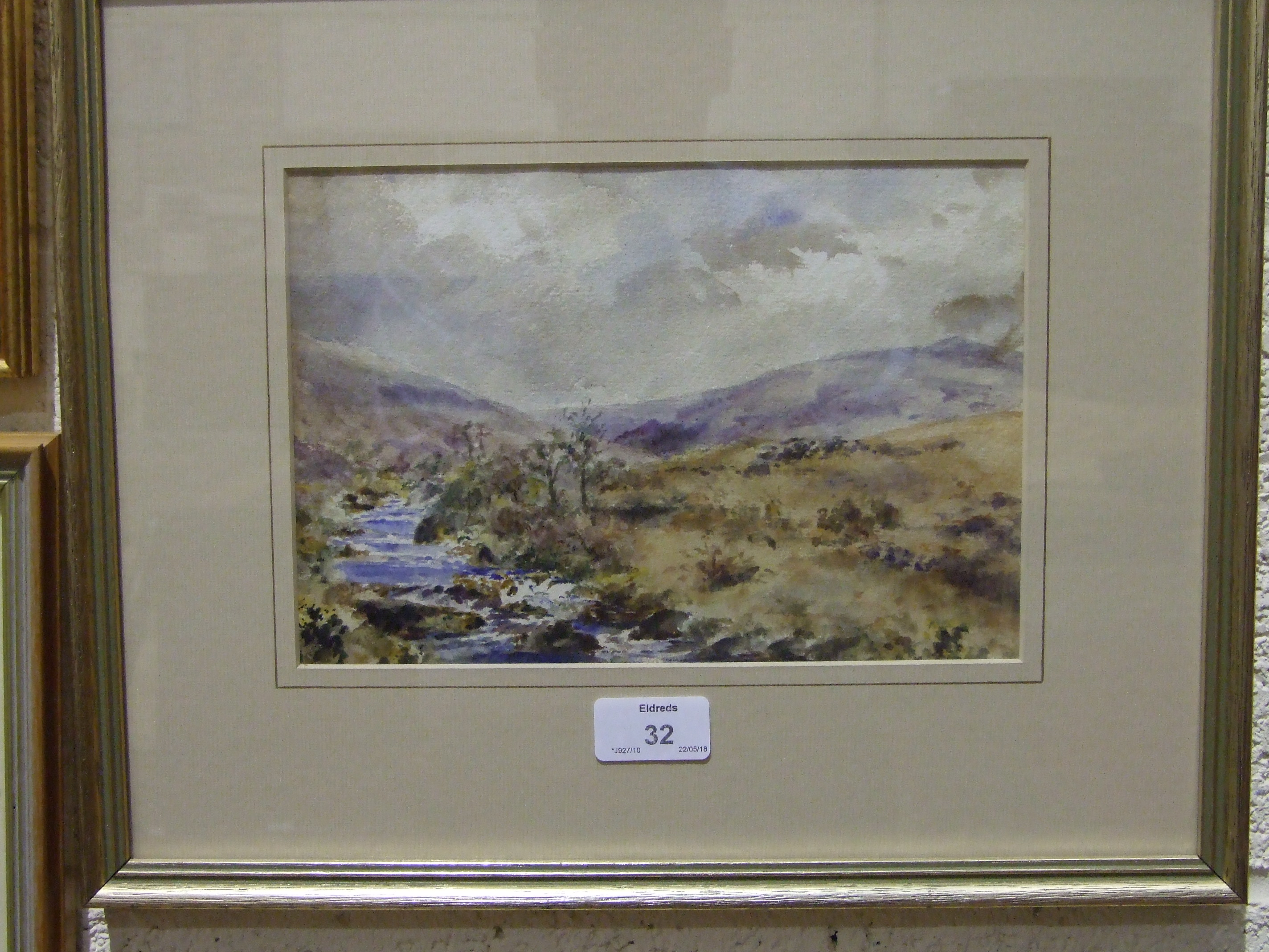 R W Holman TAVY-CLEAVE, DARTMOOR Signed watercolour, 20 x 30cm and another by A Jukes-Browne, - Image 2 of 3