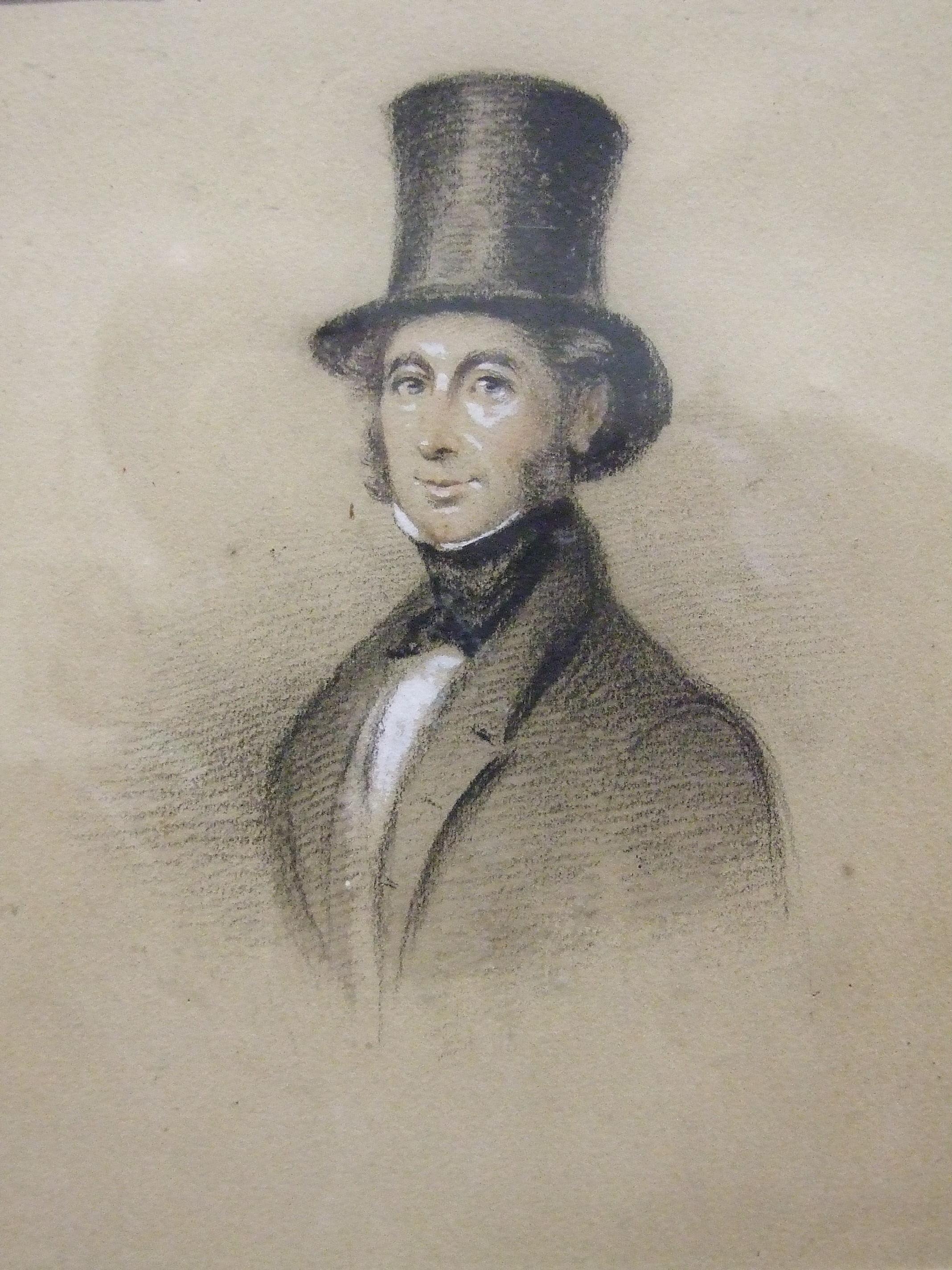 19th century Irish School HALF-LENGTH PORTRAIT OF NOBLE JOHNSON OF ROCKINGHAM, COUNTY CORK,
