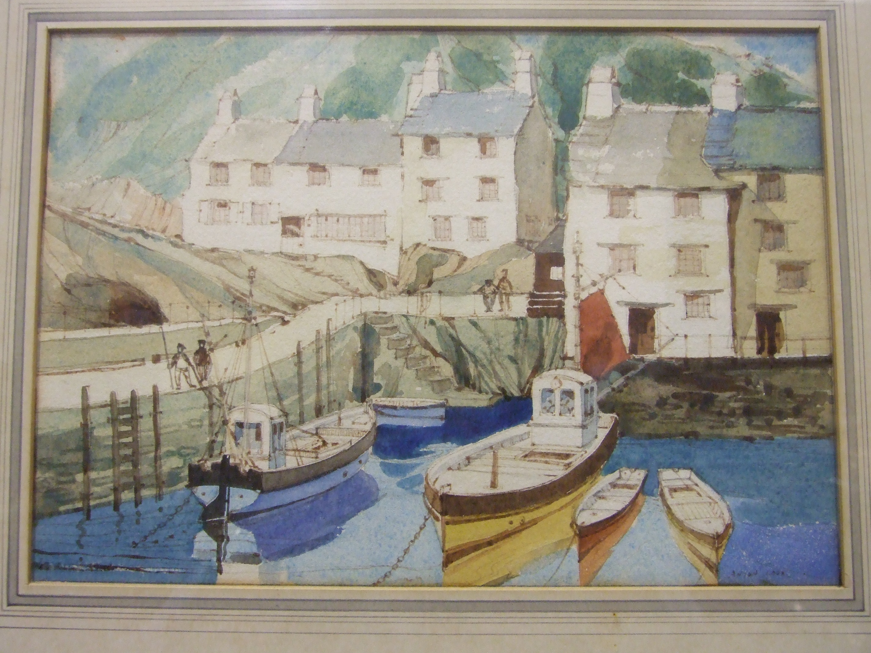 •Anyon Cook POLPERRO Signed watercolour, 18 x 25cm, together with another view of Polperro by the - Image 3 of 3