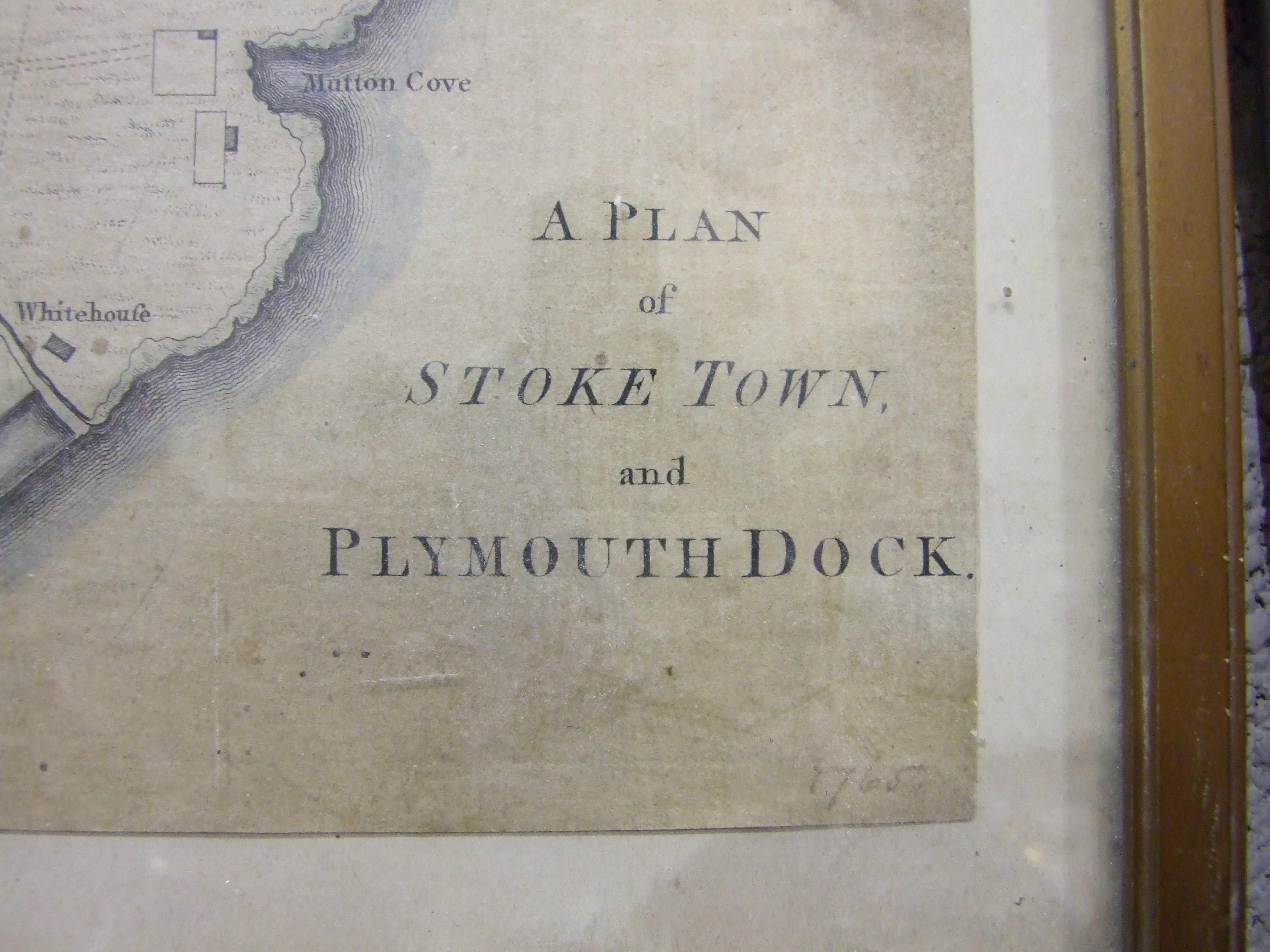After Benjamin Donn, 'A plan of Stoke Town and Plymouth Dock', later hand-coloured, 26.5 x 37cm, - Image 2 of 3