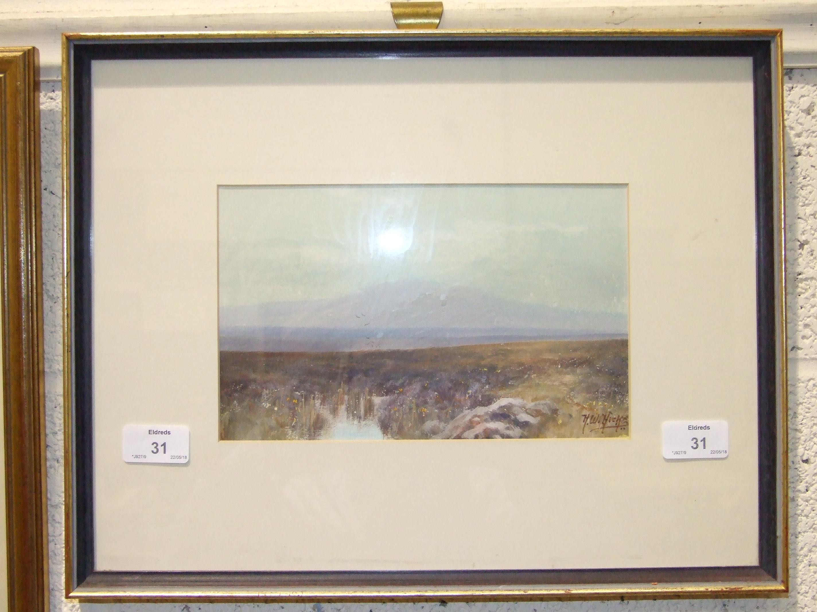 Herbert William Hicks (1880-1944) YES TOR, DARTMOOR Signed watercolour, 14.5 x 23cm. - Image 2 of 2
